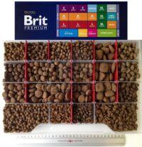 Brit Premium tápok szemcsemérete