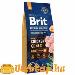 Brit Premium By Nature Adult Medium 15+3kg Ajándék!