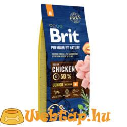 Brit Premium By Nature Junior Medium 3kg kutyatáp