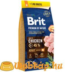 Brit Premium By Nature Adult Medium 15+3kg Ajándék!