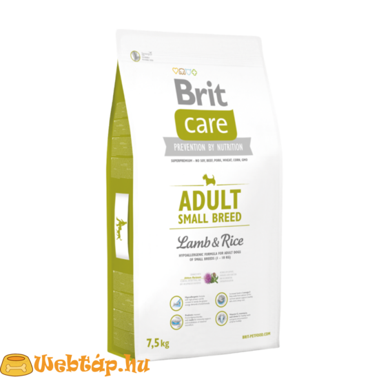 Brit Care Adult Small Breed Lamb & Rice 1kg kutyatáp