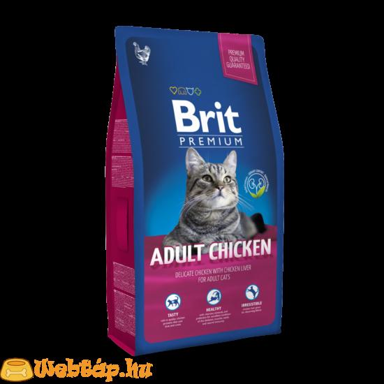 Brit Premium Cat  Adult Chicken 0.8kg