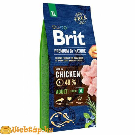 Brit Premium By Nature Adult Extra Large 15g kutyatáp