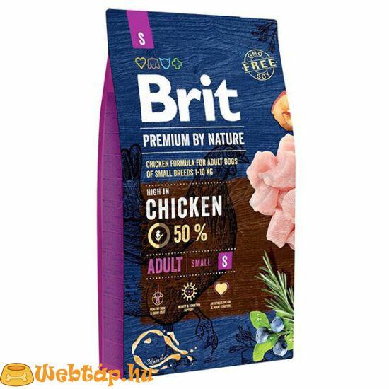 Brit Premium By Nature Adult Small 8kg kutyatáp