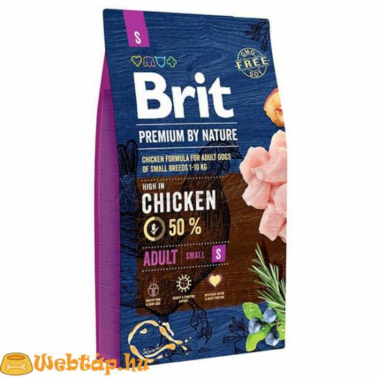 Brit Premium By Nature Adult Small 8kg kutyatáp