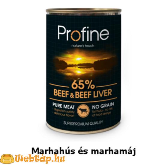 Profine Beef Konzerv marhahússal és marhamájjal 0.4kg kutyatáp
