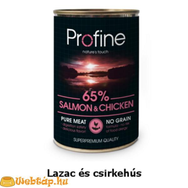 Profine Salmon-Chicken Konzerv lazacal és csirkehússal 0.4kg kutyatáp