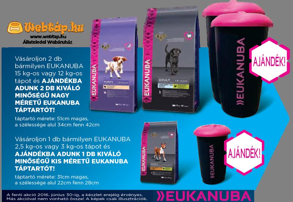 Eukanuba táptaró akció